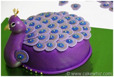 peacock cake 32