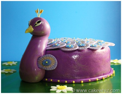 peacock cake 3